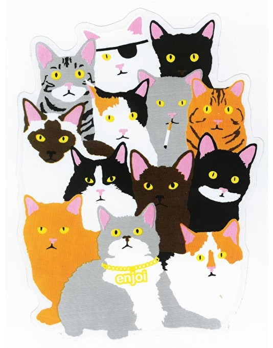 Enjoi Cat Collage Sticker