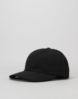 The Quiet Life Cursive Polo Strapback Cap - Black