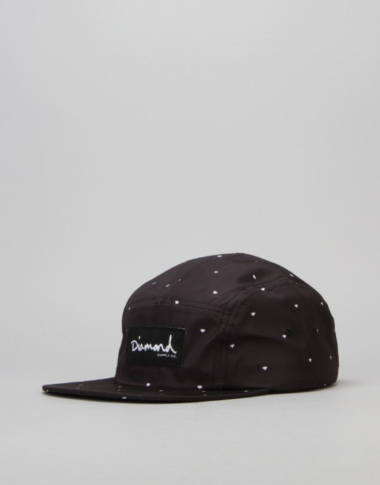 Diamond Supply Co. Deco 5 Panel Cap - Black