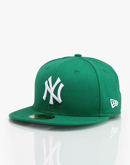 New Era MLB NY Yankees Basic Fitted Cap - Kelly/White