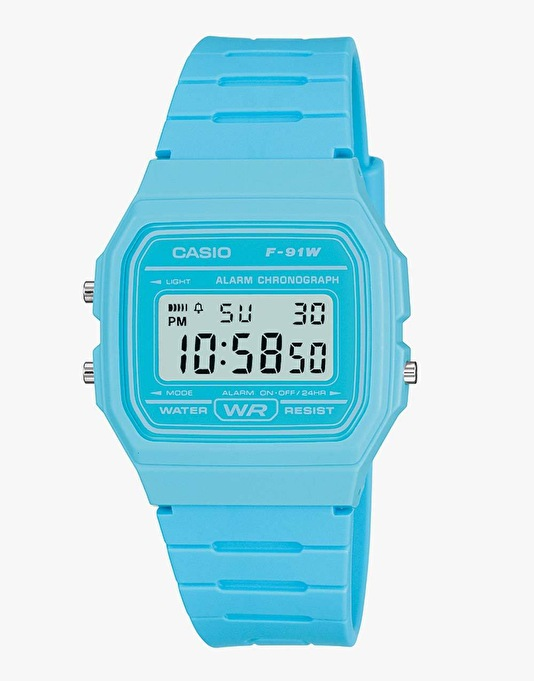 Casio F-91WC-2AEF Watch - Blue