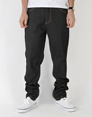Route One Carrot Fit Denim Jeans - Rigid Indigo