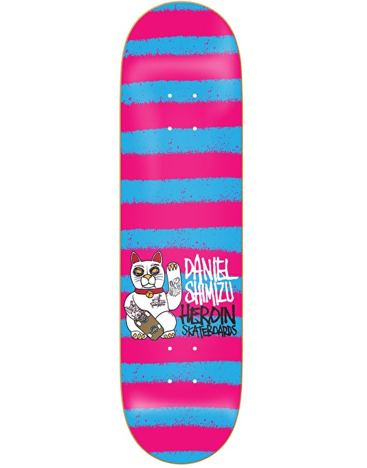 Heroin Shimizu Striped Icon Skateboard Deck - 8.125""