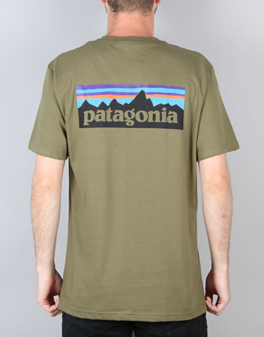 Patagonia P6 Logo T-Shirt - Fatigue Green