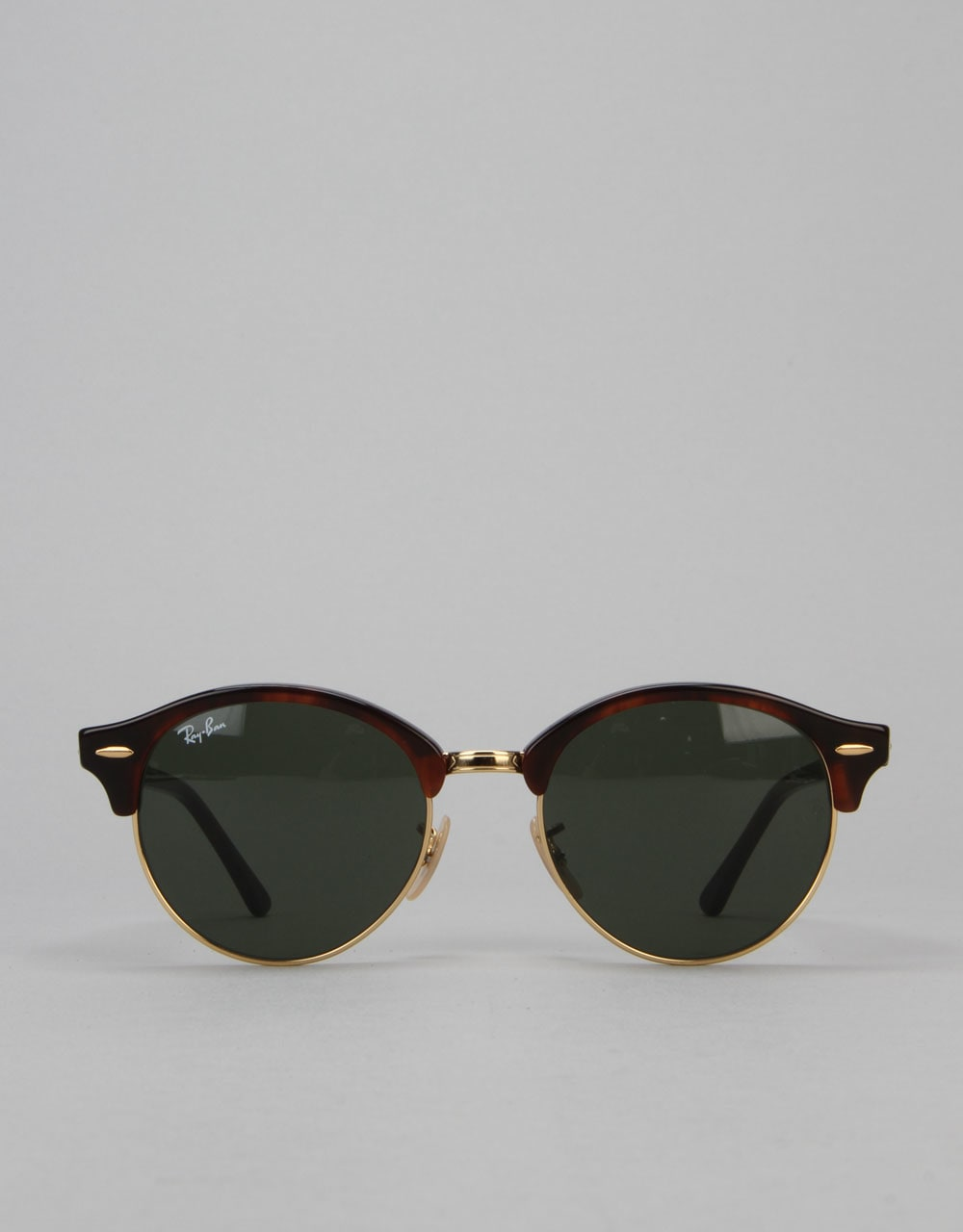 a778864c49e Ray-Ban Club Round Sunglasses - Red Havana Green RB4246 990 51 ...