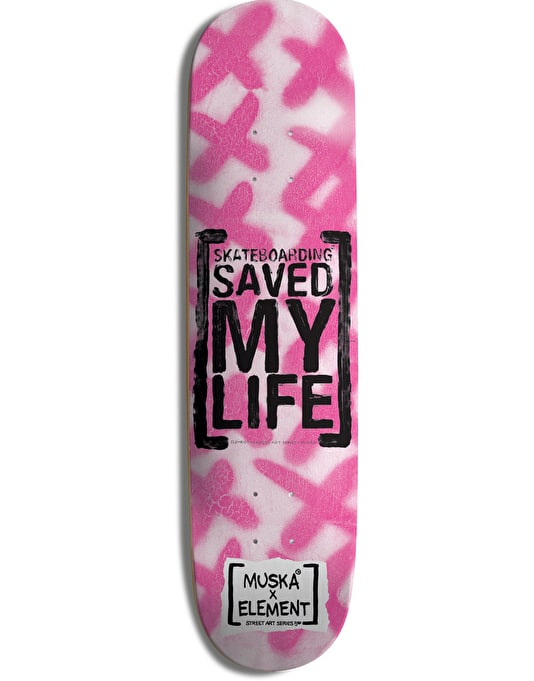 Element Muska Saved Featherlight Skateboard Deck - 8""