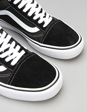 Vans Old Skool Pro Skate Shoes - Black/White