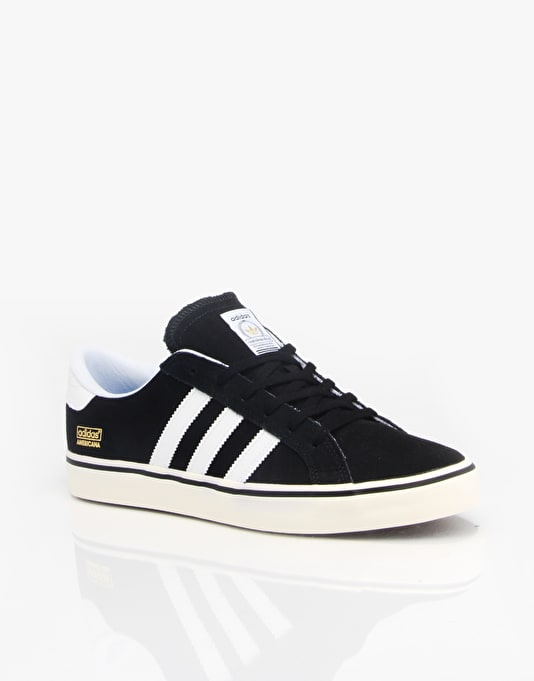 Adidas Americana Vin Skate Shoes - Black/Running White/Ecru