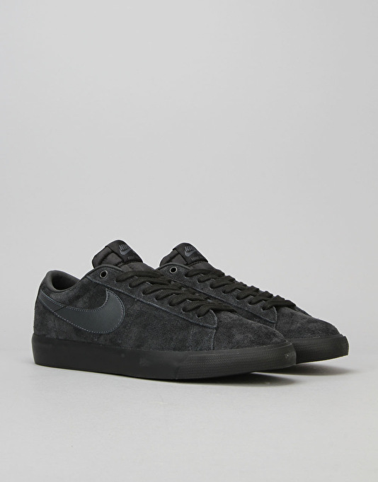 Nike SB Blazer Low GT Skate Shoes - Black/Anthracite