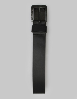 Levis Side Logo Buckle Leather Belt - Regular Black