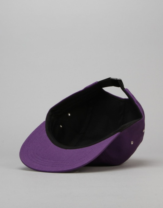 Route One Basics 5 Panel Cap - Purple