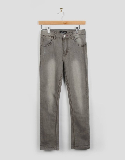 Route One Skinny Fit Boys Jeans - Washed Grey