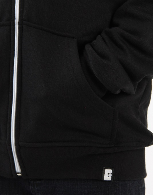 Route One Boys Basic Zip Hoodie - Black