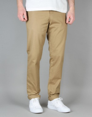 Route One Carrot Fit Chinos - Brown