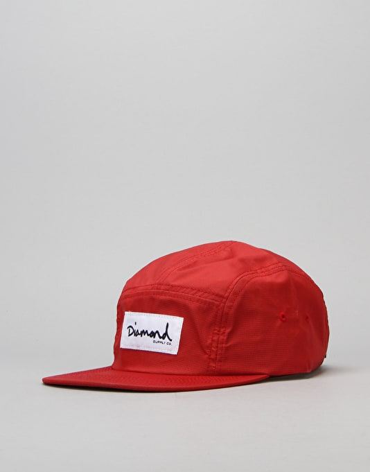 Diamond Supply Co. Porto 5 Panel Cap - Red