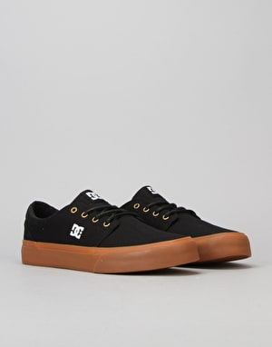 DC Trase TX Skate Shoes - Black/Gold