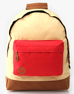 Mi-Pac Tonal Backpack - Beige/Red