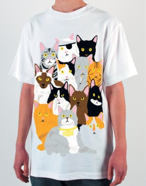 Enjoi Itty Bitty Kitty R1 Exclusive T-Shirt - White