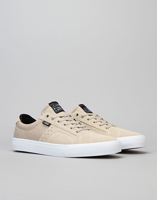 Lakai Flaco Skate Shoes - Cream Suede