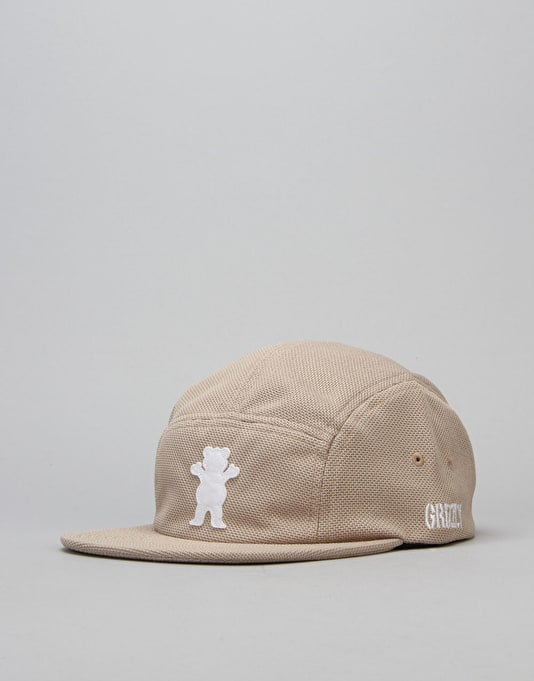 Grizzly BRB OG Bear Pique 5 Panel Cap - Tan