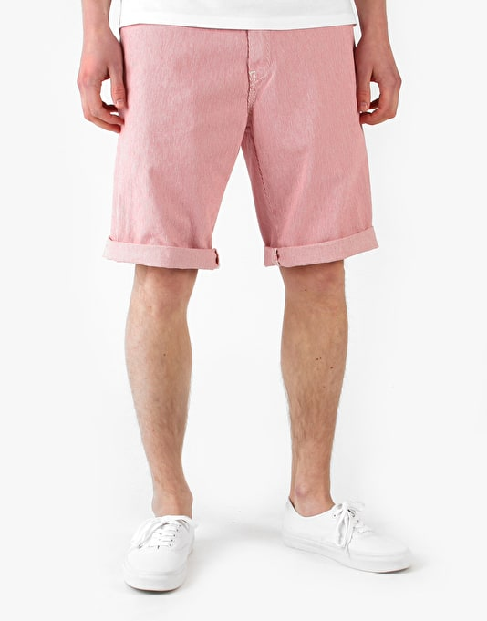 Carhartt Unit Bermuda Yazoo Hickory Shorts - Red