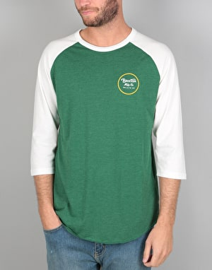 Brixton Wheeler 3/4 Sleeve T-Shirt - Heather Forest