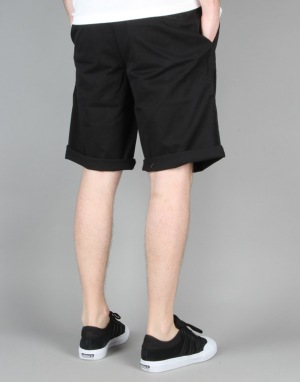 Route One Classic Fit Chino Shorts - Jet Black