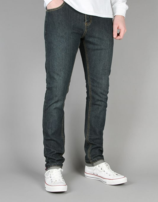 Route One Skinny Denim Jeans - Washed Indigo
