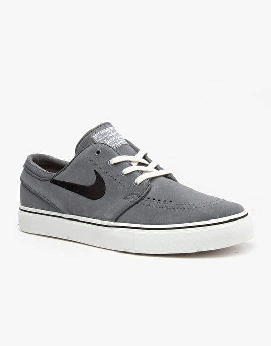 Nike SB Zoom Stefan Janoski Skate Shoes - Grey/Black-Smmt Wht-Tm Rd