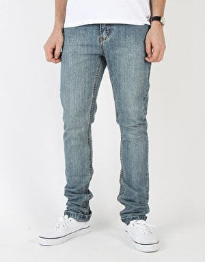 Route One Skinny Denim Jeans - Light Wash