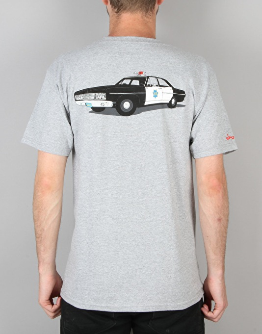 HUF x Chocolate SF Cop T-Shirt - Heather Grey