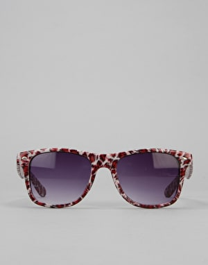Route One Animal Wayfarer Sunglasses - White/Leopard