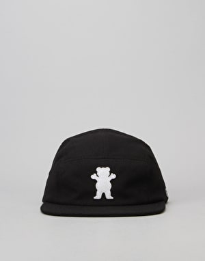 Grizzly BRB OG Bear Pique 5 Panel Cap - Black