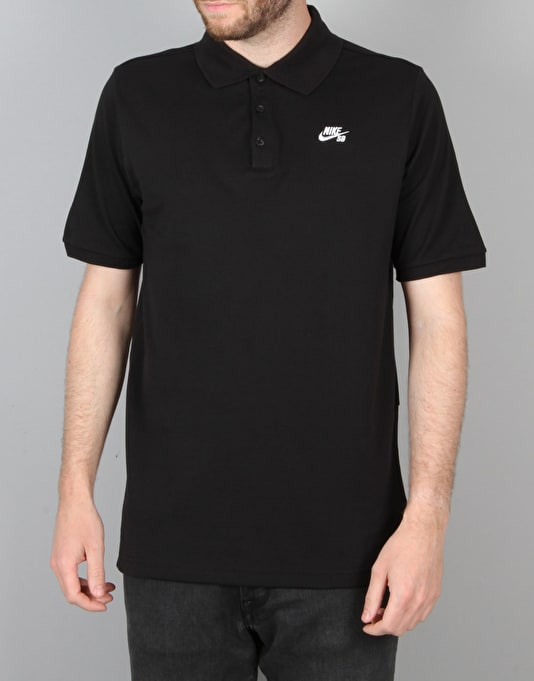 Nike SB Dri-FIT Pique Polo Shirt - Black/White