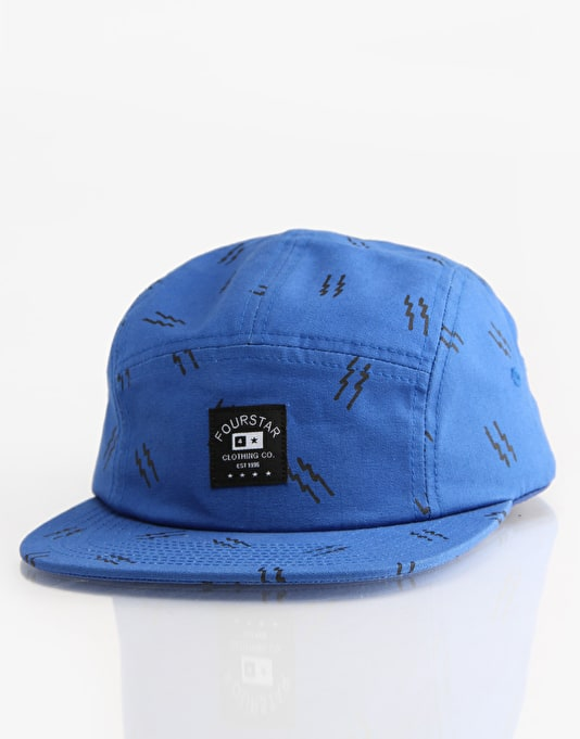 Fourstar Bolts 5 Panel Cap - Royal/Grey