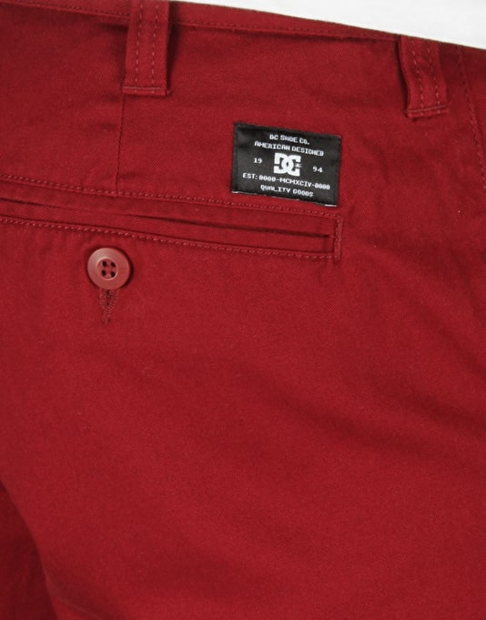 DC Worker Slim Chino Shorts - Syrah