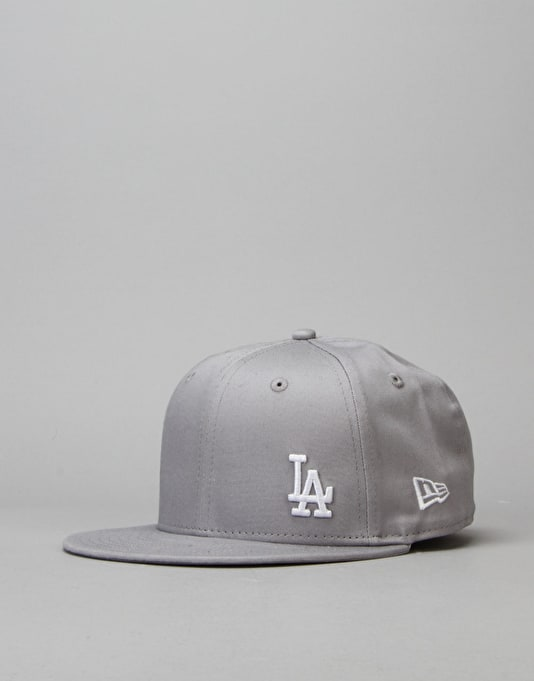 New Era 9Fifty MLB LA Dodgers Flawless Snapback Cap - Grey
