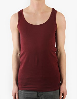 Route One Basic Vest - Deep Red
