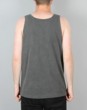 Stüssy Small Stock Embroidery Tank - Black