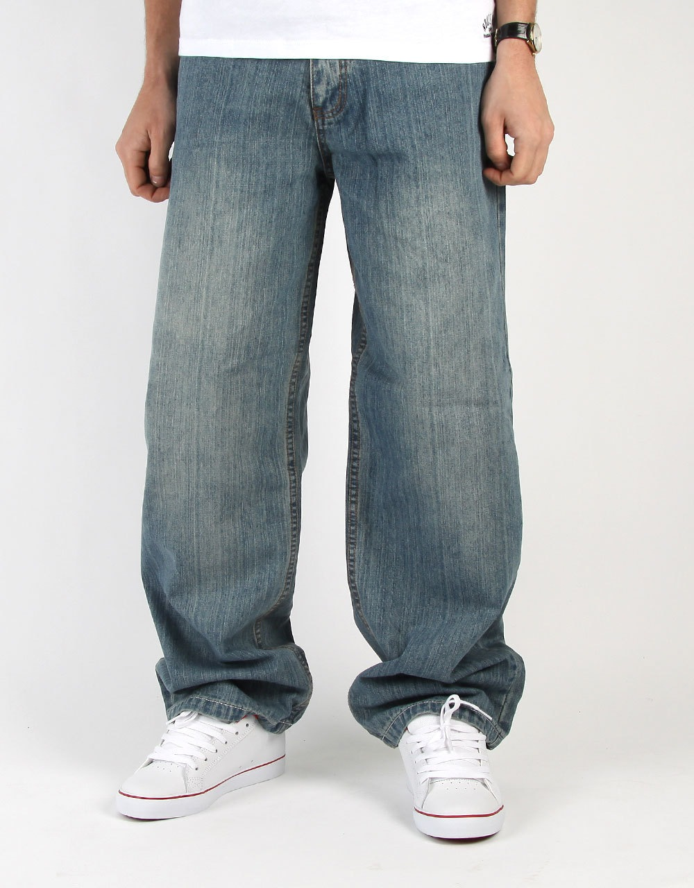 Route One Baggy Denim Jeans - Light Wash | Skate Jeans | Mens Skateboard Denim | Clothing ...