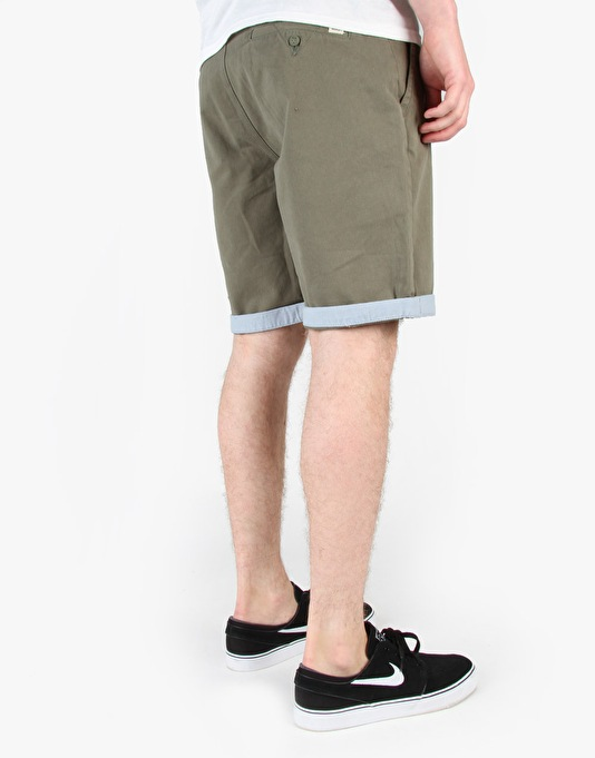 Vans Excerpt Cuff Chino Shorts - Army/Federal Blue