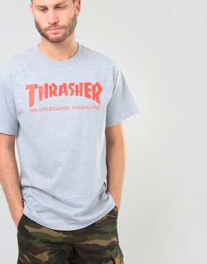 Thrasher Skate Mag T-Shirt - Heather Grey