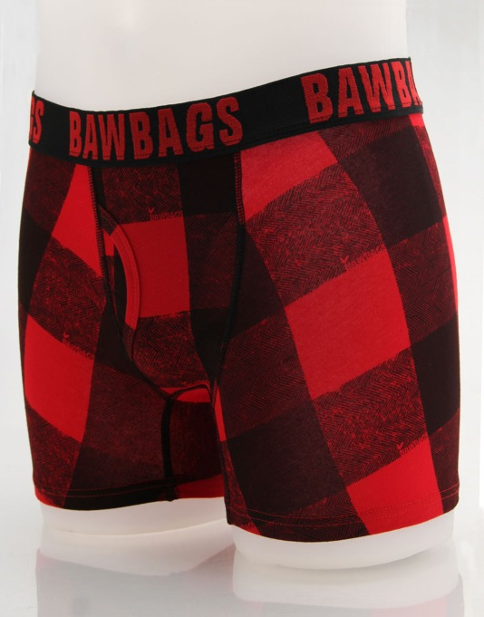 Bawbags Buffalo Plaid Boxer Shorts