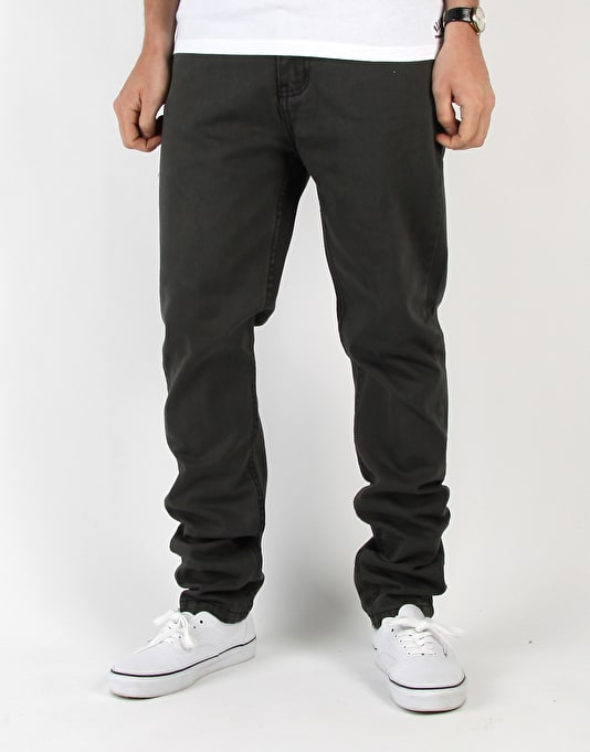 Route One Carrot Fit Denim Jeans - Soft Black