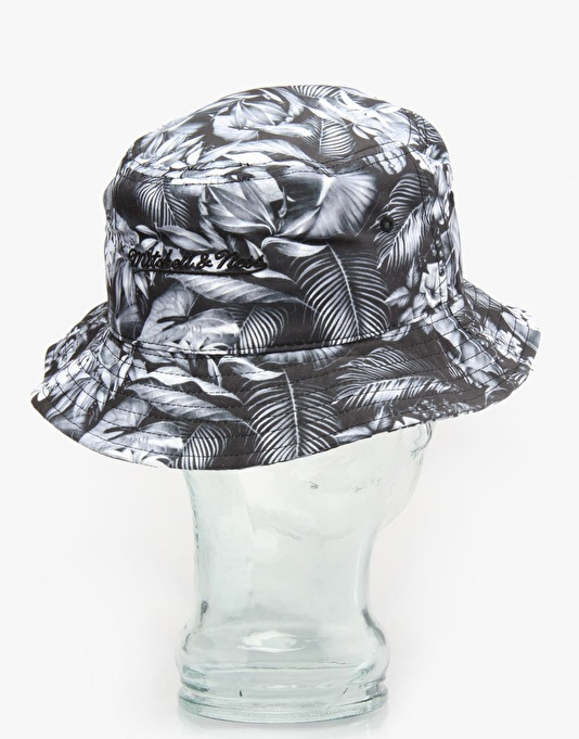 Mitchell & Ness Black Floral Bucket Hat - Black