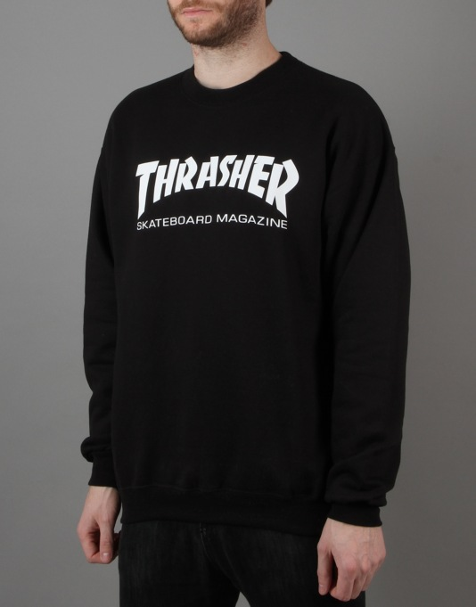 Thrasher Skate Mag Crewneck Sweat - Black