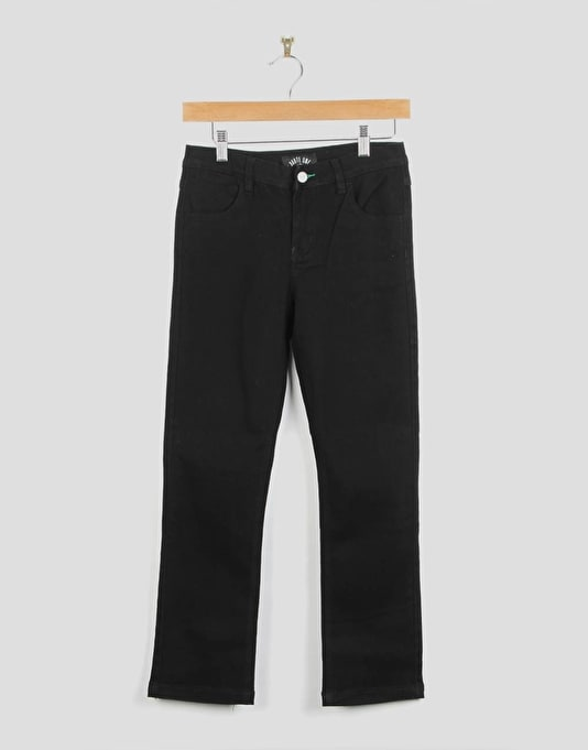 Route One Slim Fit Boys Jeans - Flat Black