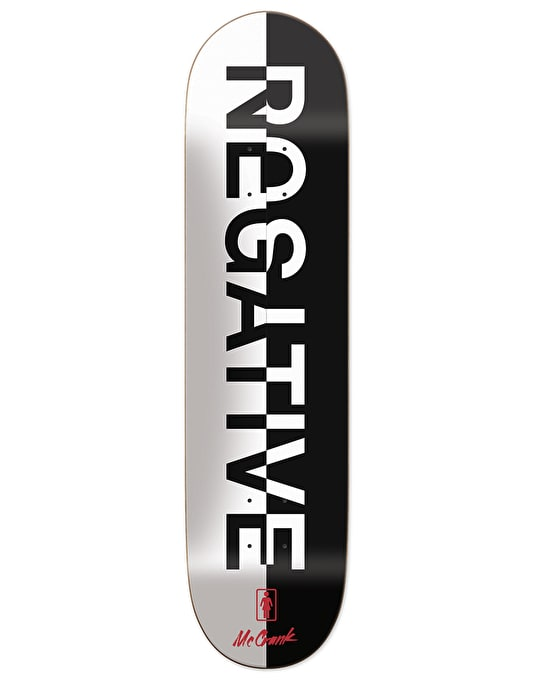 Girl McCrank Positive Negative Pro Deck - 8.375""