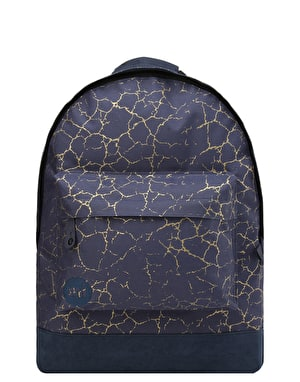 Mi-Pac Cracked Backpack - Navy/Gold