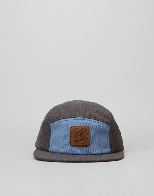 Santa Cruz Sandbank 5 Panel Cap - Charcoal Heather